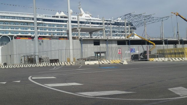 new cruise terminal external walls august 2017 2